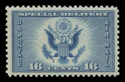 U.S. Scott # CE 1, 1934 16c Great Seal of the United States - blue