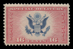 U.S. Scott # CE 2, 1936 16c Great Seal of the United States - red & blue