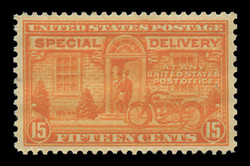 U.S. Scott # E 16, 1931 15c Messenger and Motorcycle - Rotary Press, Perf. 11 x 10 1/2