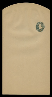 U.S. Scott # W 405b, 1907 1c Franklin, Scott Die U85, green on manila, Die 3 - Wrapper, Unfolded