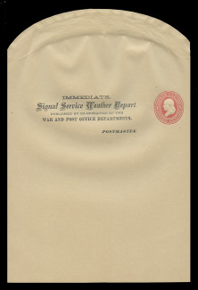 U.S. Scott # WO  46, 1875 1c Franklin, Scott Die UO17, red on manila - Wrapper, Unfolded - with Official Printing