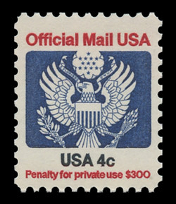 U.S. Scott # O 128, 1983 4c Official Mail Eagle