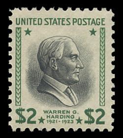 U.S. Scott # 833, 1938 $2 Warren G. Harding