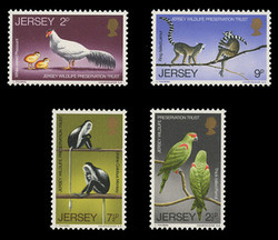 JERSEY Scott #   49-52, 1971 Jersey Wildlife Preservation Trust (Set of 4)