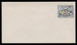U.N.N.Y. Scott # U  3 S, 1963 5c Globe & Weather Vane - Mint Envelope, Small Size