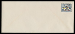 U.N.N.Y. Scott # U  3L, 1963 5c Globe & Weather Vane - Mint Envelope, Large  Size