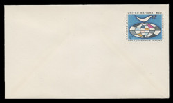 U.N.N.Y. Scott # U  4 S, 1969 6c Globe & Weather Vane - Mint Envelope, Small Size