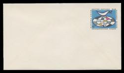U.N.N.Y. Scott # U  4 S, 1969 6c Globe & Weather Vane - Mint Envelope, Small Size