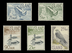 ICELAND Scott #  319-23, 1959-60 Icelandic Fish & Birds (Set of 5)