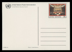 U.N.N.Y Scott # UX 14-8, 1989 36c Views of NY Headquarters - Mint Picture Postal Cards Set of 5