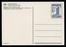 U.N.N.Y Scott # UX 19, 1992 40c U.N. Headquarters - Mint Picture Postal Card