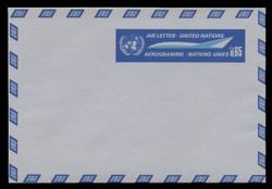 U.N.GEN Scott # UC  1, 1969 65c U.N. Emblem & Stylized Plane - Mint Air Letter Sheet, Folded