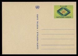 U.N.GEN Scott # UX  3, 1977 40c U.N. Emblem - Mint Postal Card