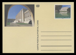 U.N.GEN Scott # UX 10, 1993 80c Palais des Nations - Mint Postal Card