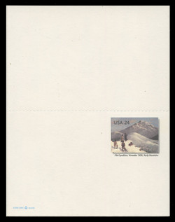 U.S. Scott # UY 45, 2006 24c Zebulon Pike Expedition at Pike's Peak - Mint Message-Reply Card - UNFOLDED