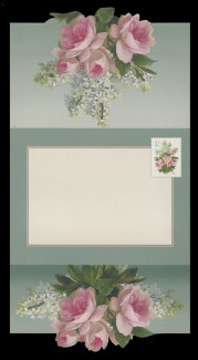 U.S. Scott # U 657, 2005 37c White Lilacs and Pink Roses - Letter Sheet, UNFOLDED (See Warranty)
