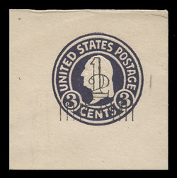 "U.S. Scott # U 474, 1920-1 2c AND 1c, Types 4 AND 7A on 3c (U436a) Washington, dark violet on white, Die 1 - Mint ""Full Corner"""