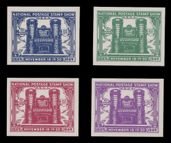 ASDA 1949i (1st) Stamp Show, 71st Regiment Armory, Imperforate (Set of 4)