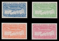 ASDA 1950i (2nd) Stamp Show, Plane Over New York,  Imperforate (Set of 4)