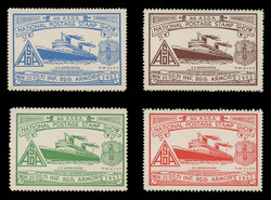 ASDA 1952 (4th) Stamp Show, S.S. United States,  Perforated (Set of 4)