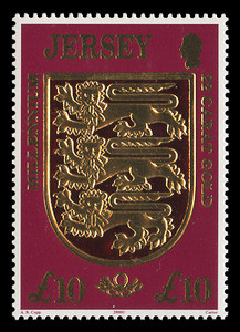 JERSEY Scott #  933, 2000 The Millennium, Jersey Coat of Arms