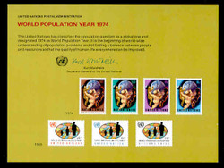 U.N. Souvenir Card #  6 - World population Year