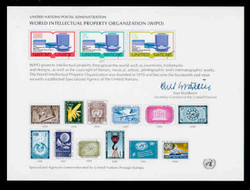 U.N. Souvenir Card # 11 - World International Property Organization