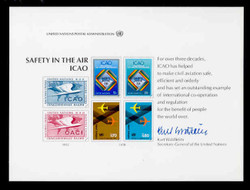 U.N. Souvenir Card # 14 - Civil Aviation; Safety in the Air