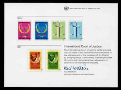 U.N. Souvenir Card # 16 - International Court of Justice