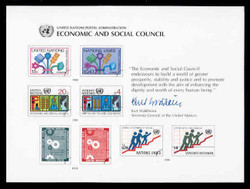 U.N. Souvenir Card # 18 - Economic and Social Council