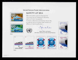 U.N. Souvenir Card # 23 - Safety at Sea