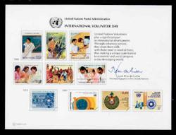 U.N. Souvenir Card # 33 - International Volunteer Day