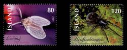 ICELAND Scott # 1160-61, 2009 Insects - Psychodidae, Gnaphosidae (Set of 2)