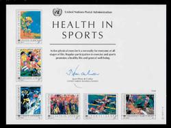 U.N. Souvenir Card # 34 - Health in Sports