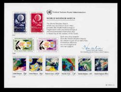U.N. Souvenir Card # 36 - World Weather Watch