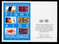 U.N. Souvenir Card # 37 - Fight AIDS Worldwide