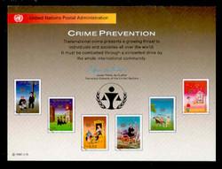 U.N. Souvenir Card # 38 - Crime Prevention