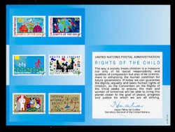 U.N. Souvenir Card # 40 - Rights of the Child