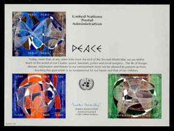 U.N. Souvenir Card # 44 - Peace
