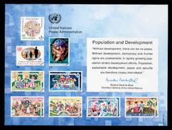 U.N. Souvenir Card # 46 - Population and Development