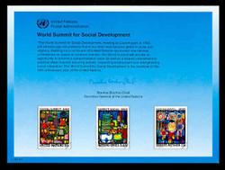 U.N. Souvenir Card # 47 - Population and Development