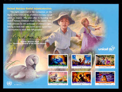 U.N. Souvenir Card # 50 - 50th Anniversary, U.N.I.C.E.F.