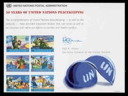 U.N. Souvenir Card # 52 - 50 Years U.N. Peacekeeping
