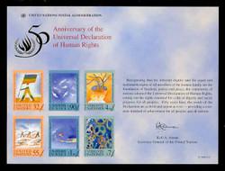 U.N. Souvenir Card # 53 - 50 Years, Declaration of Human Rights