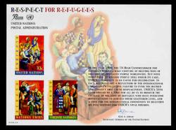 U.N. Souvenir Card # 55 - Respect for Refugees