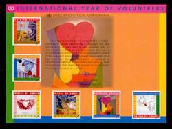 U.N. Souvenir Card # 56 - International Year of Volunteers