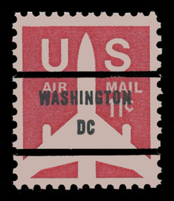 "U.S. Scott # C  78bv, 1971 11c Jet Airliner Silhouette, Congressional Precancel, NO PERIODS in ""DC"""