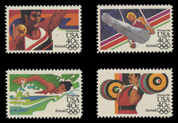 U.S. Scott # C 105a-8a, 1983 40c Summer Olympics, 1984 Issue (Set of 4 Singles) - Perf. 11 Line