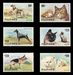 PHILIPPINES Scott # 1425-30, 1979 Dogs & Cats (Set of 6)
