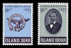 ICELAND Scott #  433-4, 1971 Icelandic Patriotic Society (Set of 2)